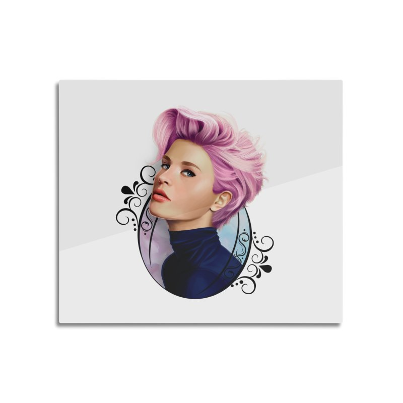 hair pink Home Mounted Acrylic Print by gabifaveri's Artist Shop