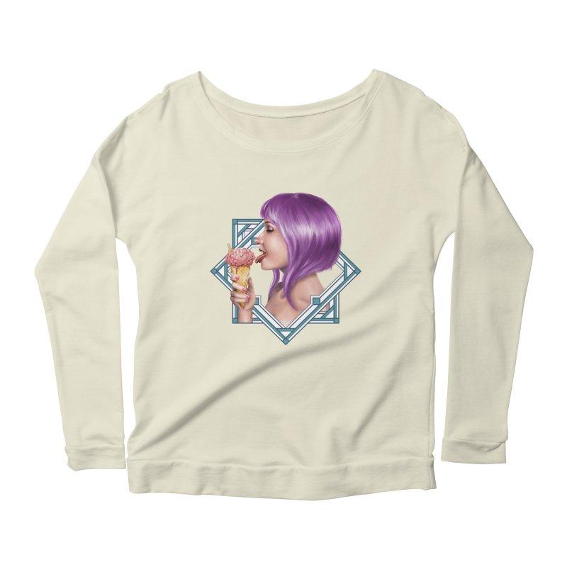 Ice Brain Women's Scoop Neck Longsleeve T-Shirt by gabifaveri's Artist Shop