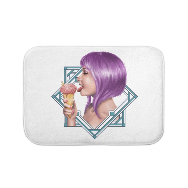 Ice Brain Home Bath Mat by gabifaveri's Artist Shop