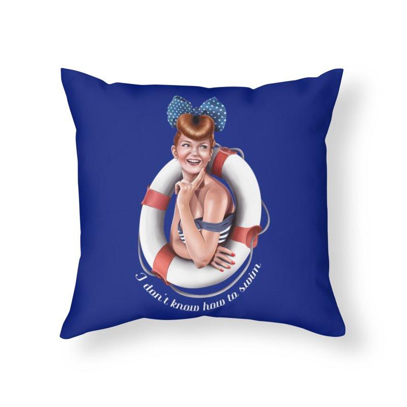 pinup naval Home Throw Pillow by gabifaveri's Artist Shop
