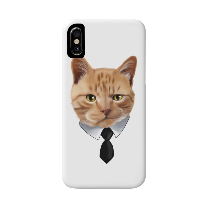 business cat Accessories Phone Case by gabifaveri's Artist Shop