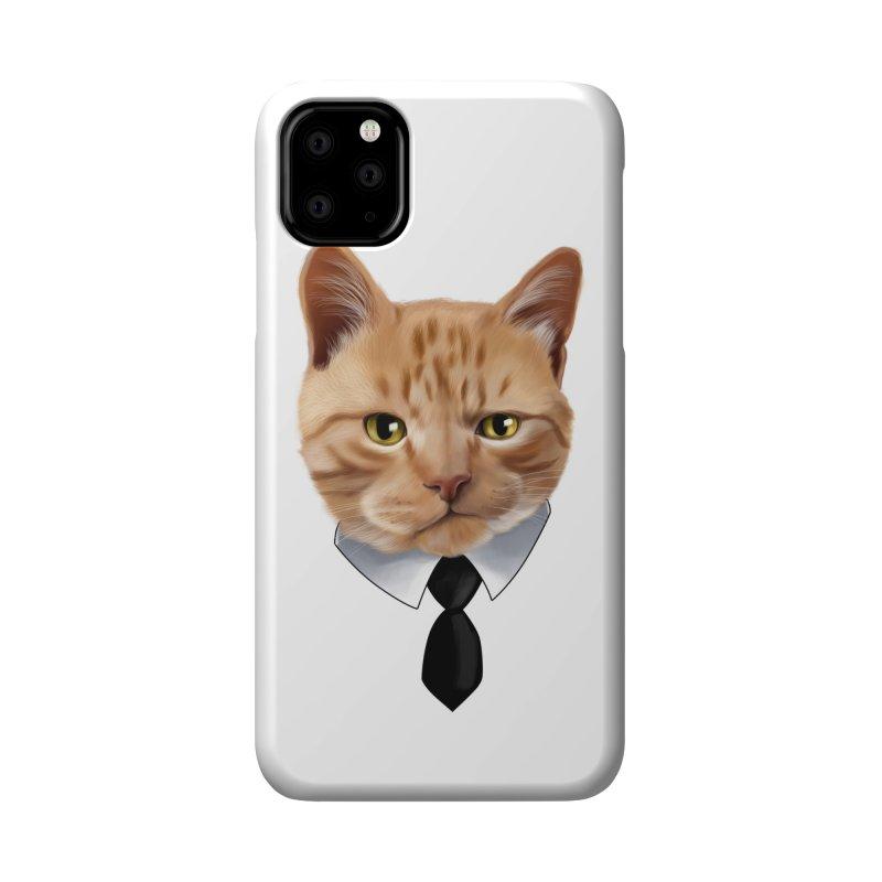 business cat Accessories Phone Case by gabifaveri's Artist Shop