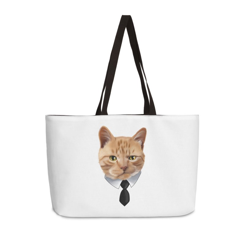 business cat Accessories Weekender Bag Bag by gabifaveri's Artist Shop