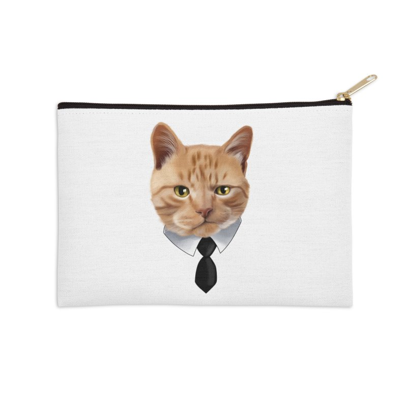 business cat Accessories Zip Pouch by gabifaveri's Artist Shop