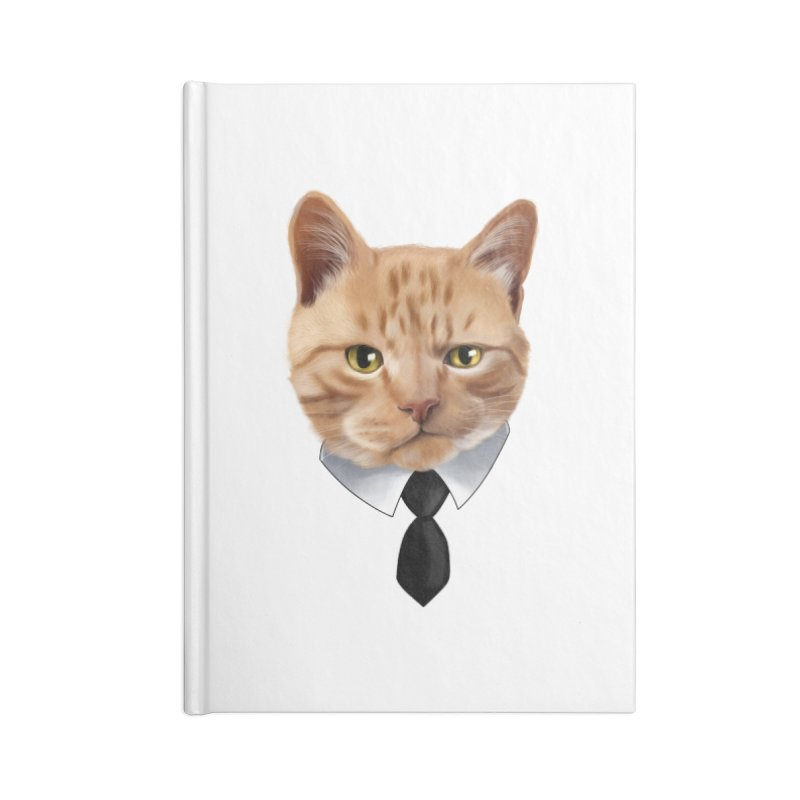 business cat Accessories Lined Journal Notebook by gabifaveri's Artist Shop