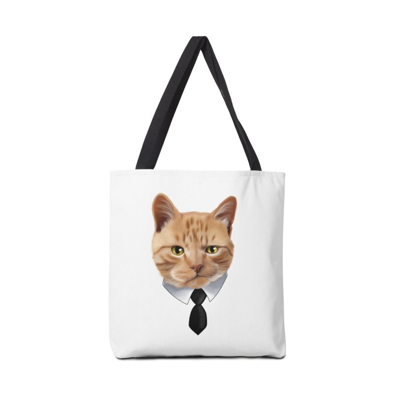business cat Accessories Tote Bag Bag by gabifaveri's Artist Shop