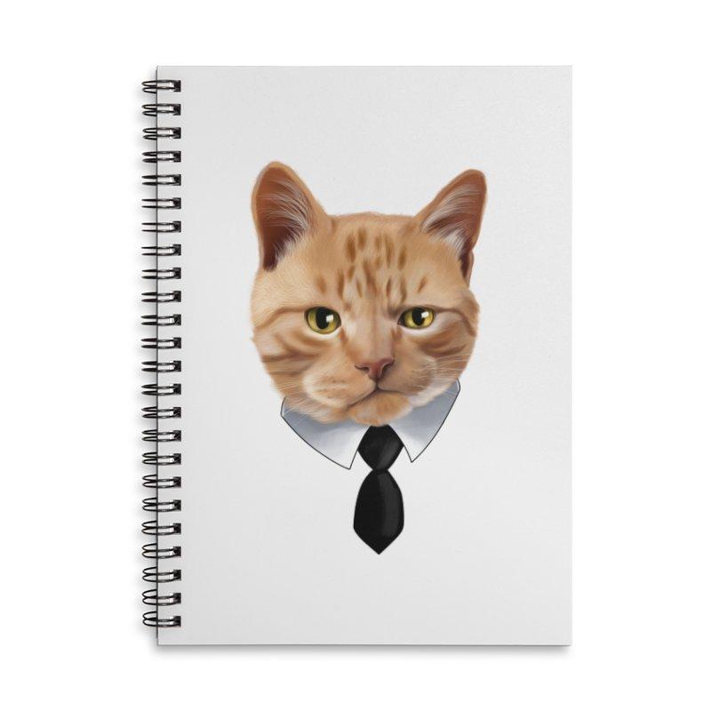 business cat Accessories Lined Spiral Notebook by gabifaveri's Artist Shop