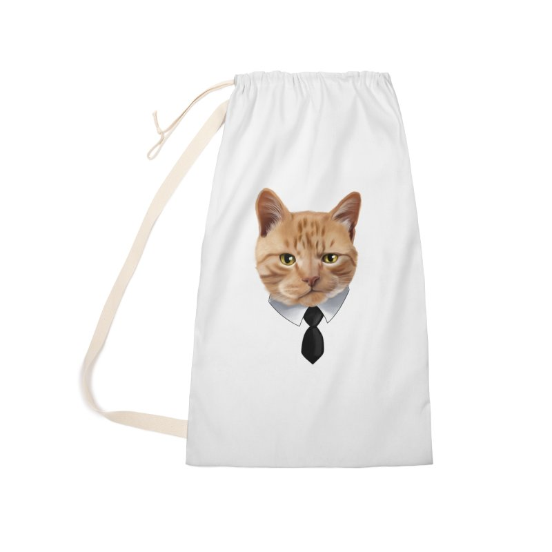 business cat Accessories Laundry Bag Bag by gabifaveri's Artist Shop