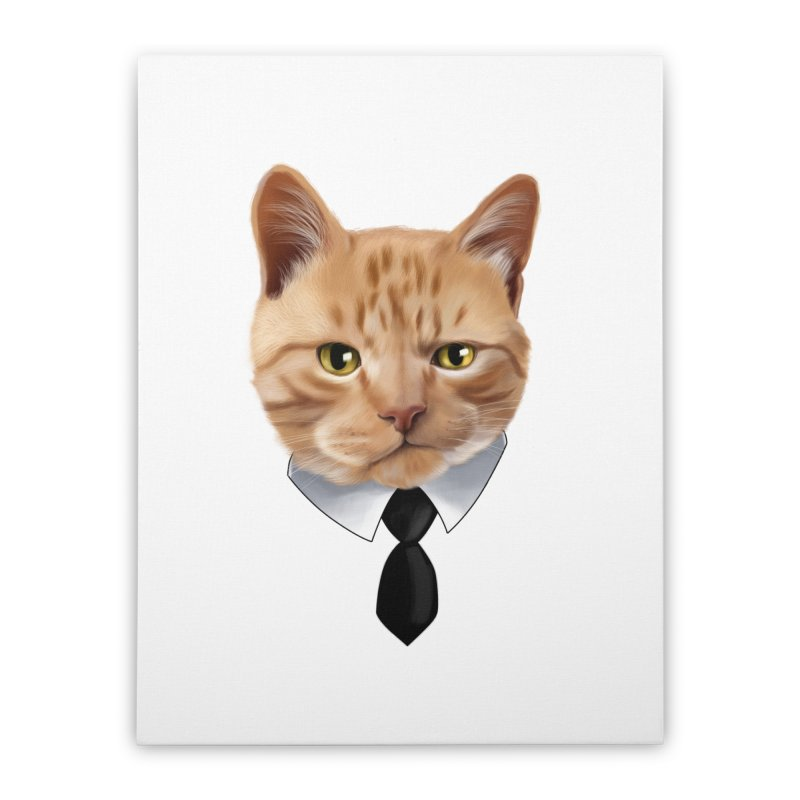 business cat Home Stretched Canvas by gabifaveri's Artist Shop