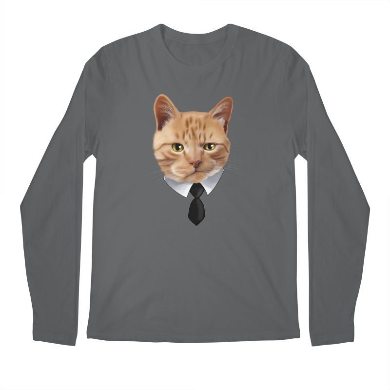 business cat Men's Longsleeve T-Shirt by gabifaveri's Artist Shop