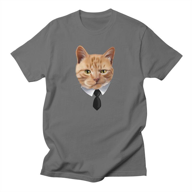 business cat Men's T-Shirt by gabifaveri's Artist Shop