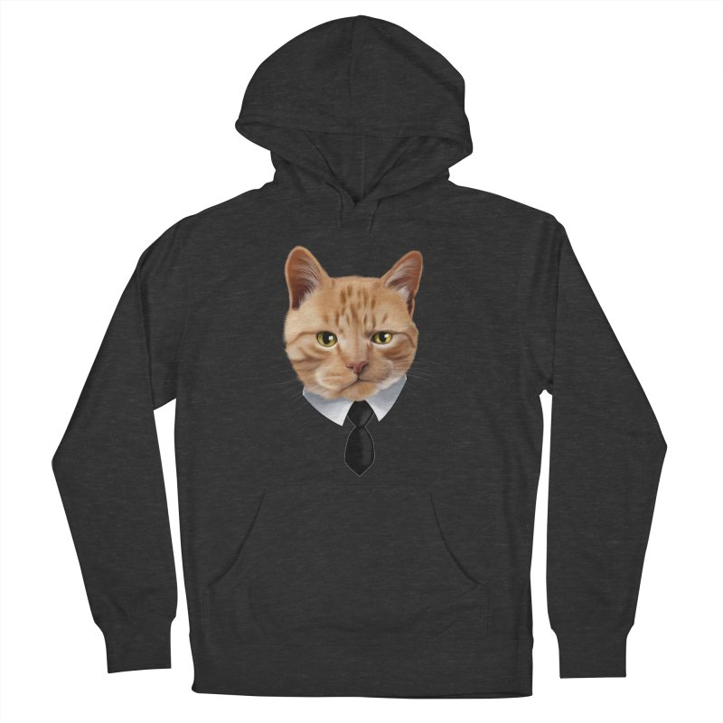 business cat Women's French Terry Pullover Hoody by gabifaveri's Artist Shop