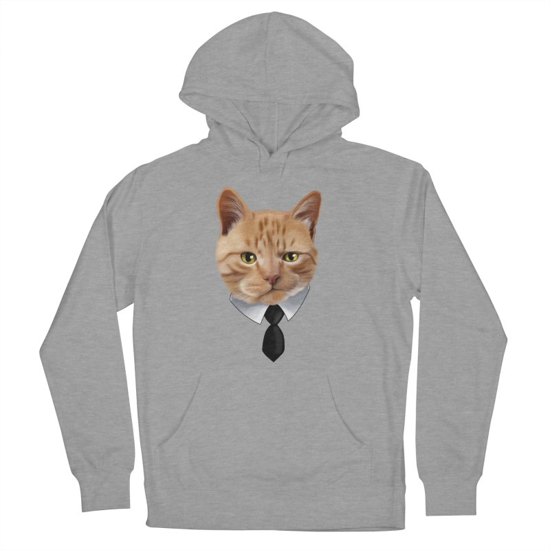 business cat Men's French Terry Pullover Hoody by gabifaveri's Artist Shop