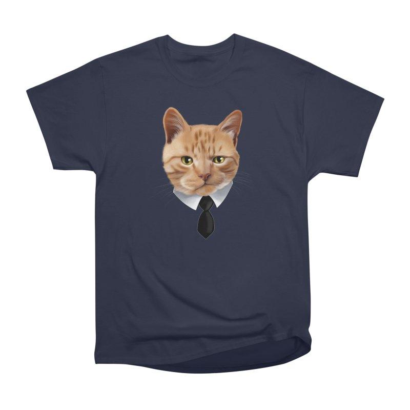 business cat Women's Heavyweight Unisex T-Shirt by gabifaveri's Artist Shop
