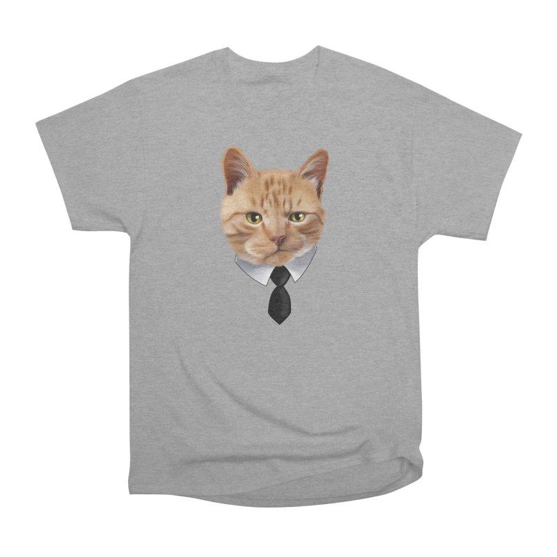 business cat Men's Heavyweight T-Shirt by gabifaveri's Artist Shop