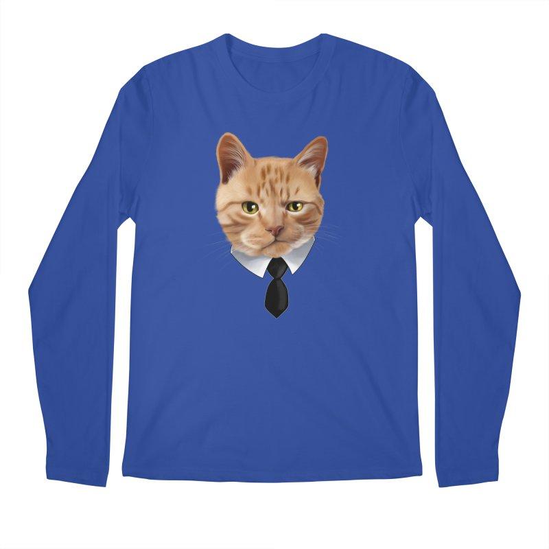 business cat Men's Regular Longsleeve T-Shirt by gabifaveri's Artist Shop