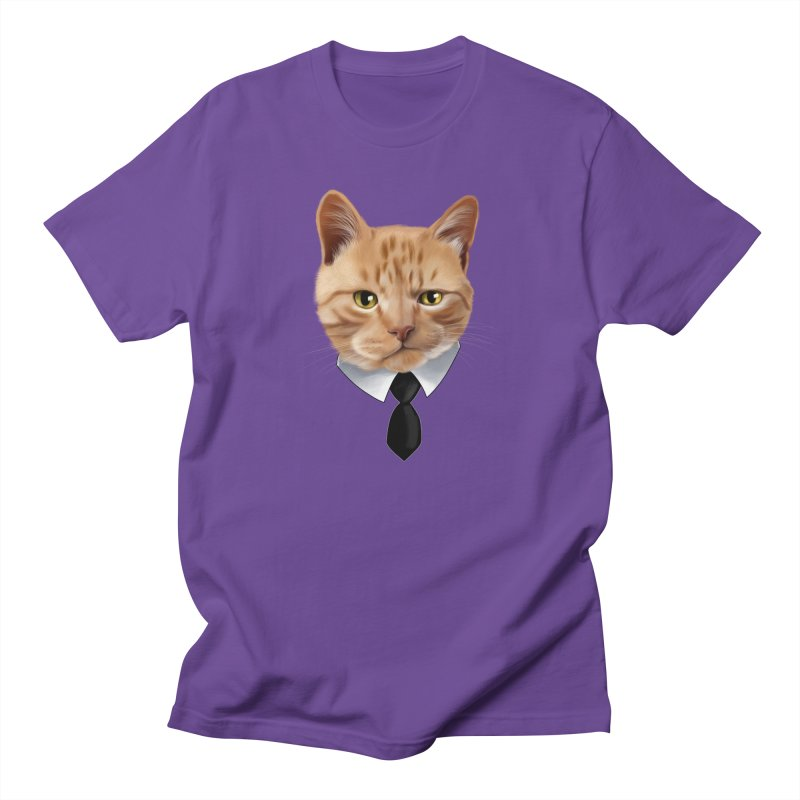 business cat Women's Regular Unisex T-Shirt by gabifaveri's Artist Shop