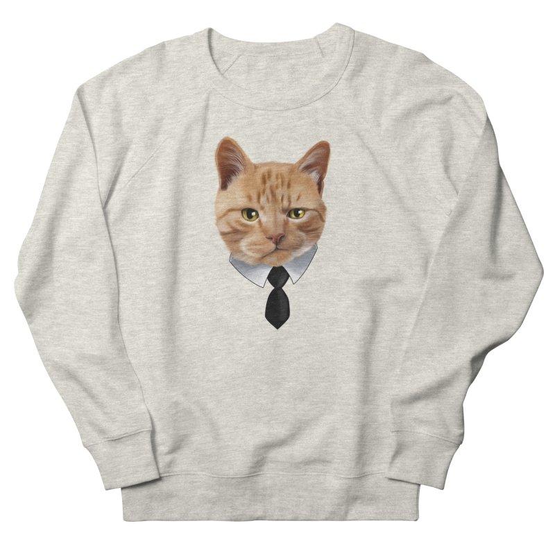 business cat Women's French Terry Sweatshirt by gabifaveri's Artist Shop