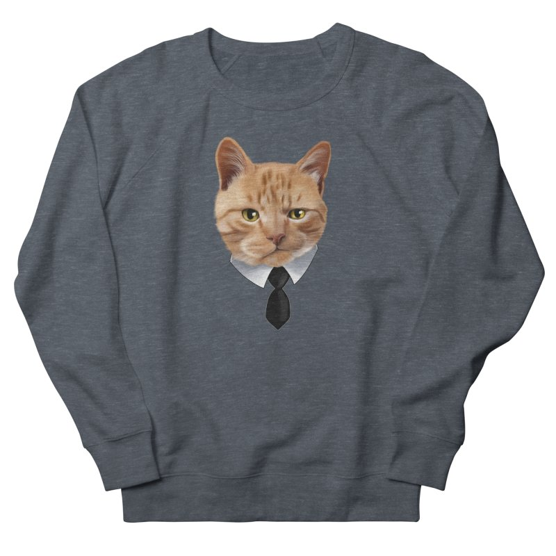 business cat Men's French Terry Sweatshirt by gabifaveri's Artist Shop