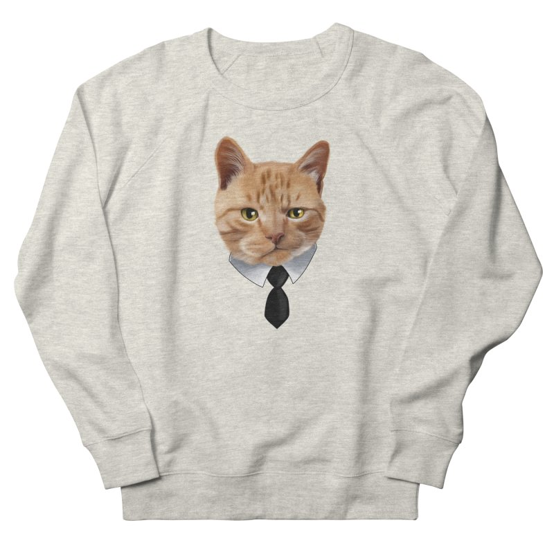 business cat Men's French Terry Sweatshirt by gabifaveri's Artist Shop