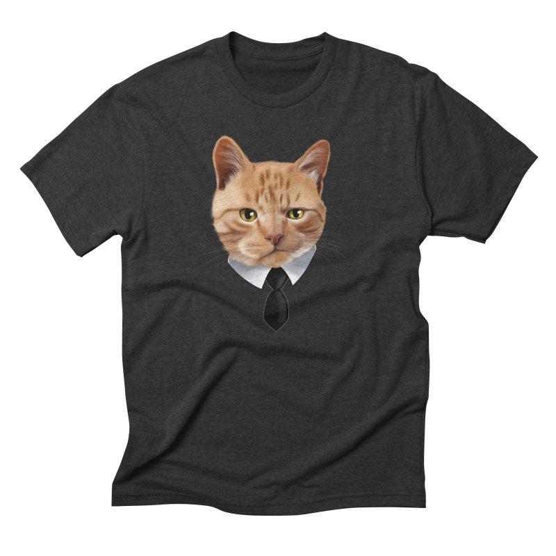 business cat Men's Triblend T-Shirt by gabifaveri's Artist Shop