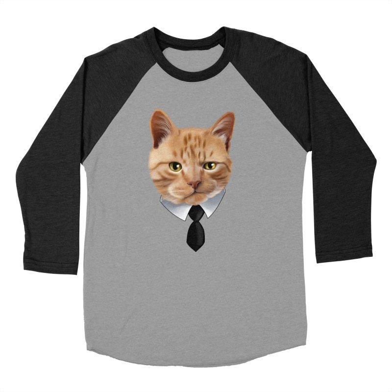 business cat Women's Baseball Triblend Longsleeve T-Shirt by gabifaveri's Artist Shop