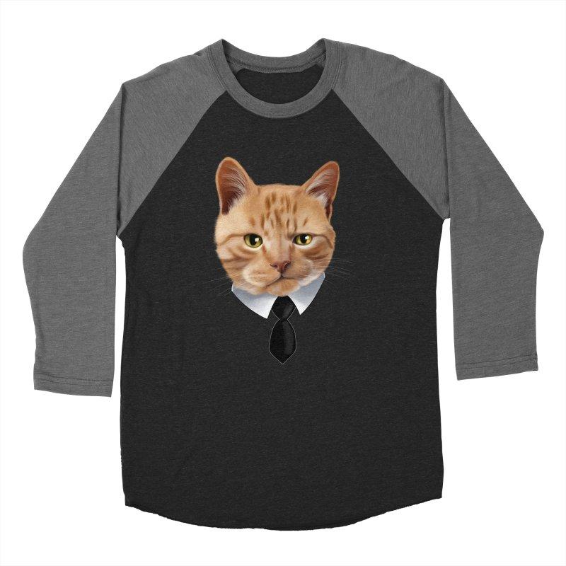 business cat Men's Baseball Triblend Longsleeve T-Shirt by gabifaveri's Artist Shop