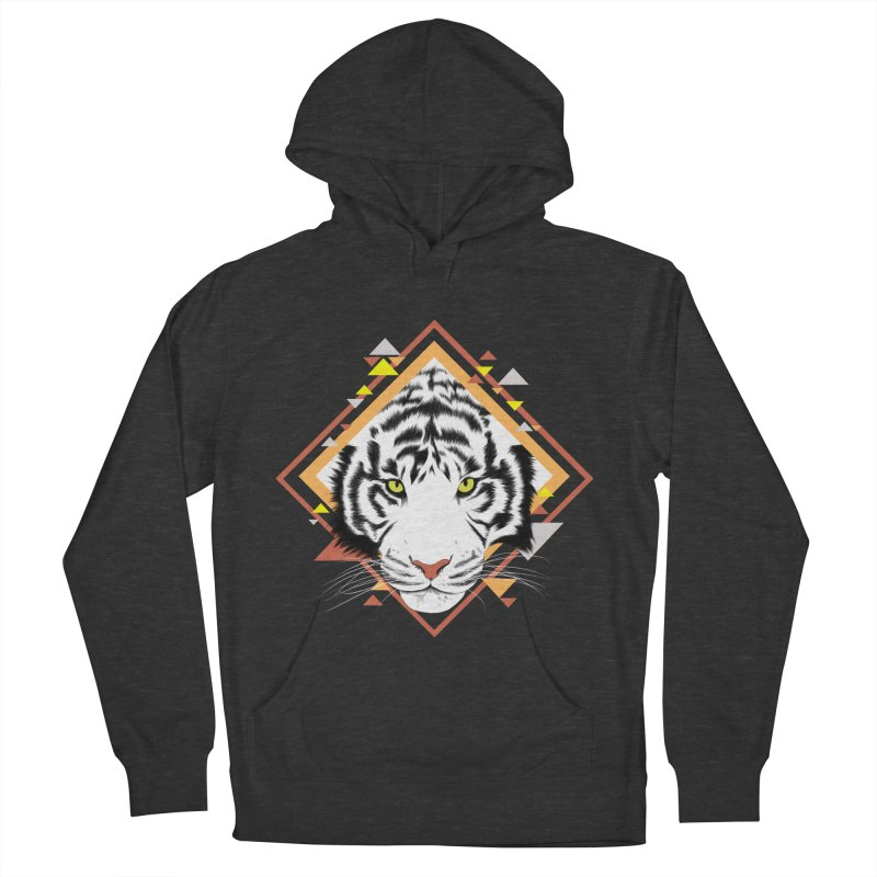 Tiger_Geometric Men's French Terry Pullover Hoody by gabifaveri's Artist Shop