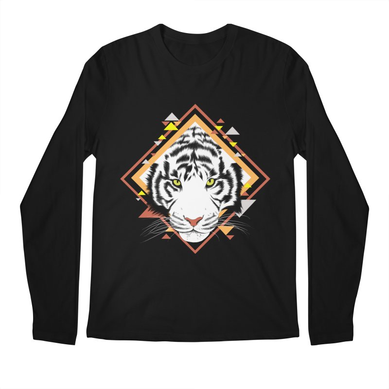 Tiger_Geometric Men's Regular Longsleeve T-Shirt by gabifaveri's Artist Shop