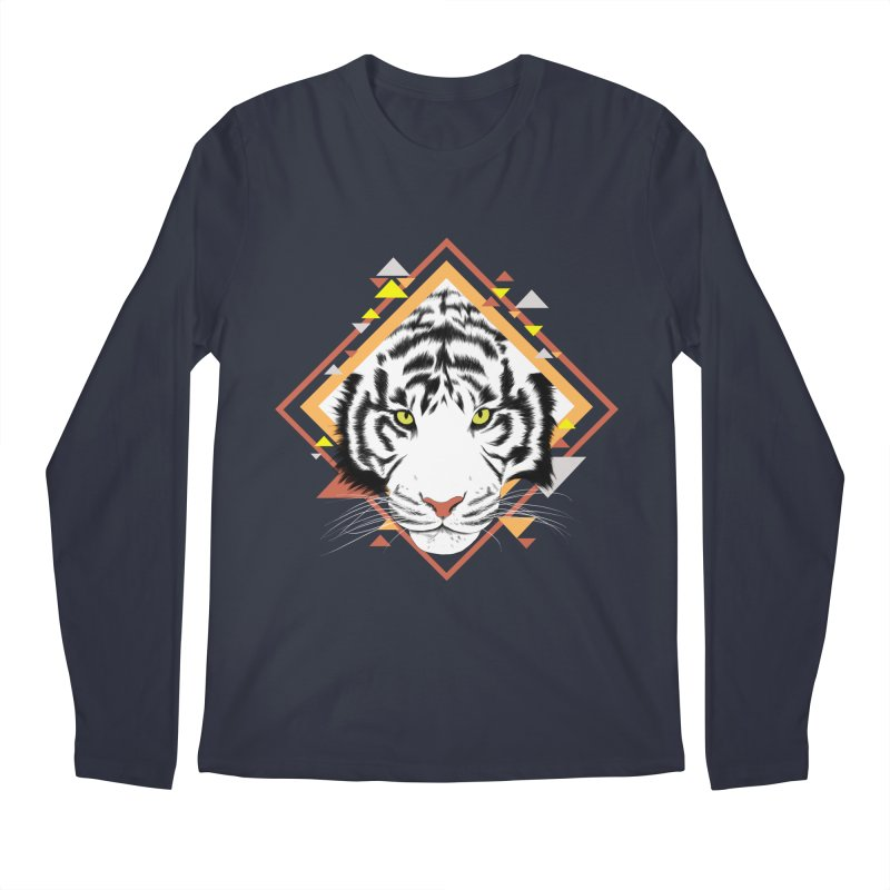 Tiger_Geometric Men's Regular Longsleeve T-Shirt by gabifaveri's Artist Shop