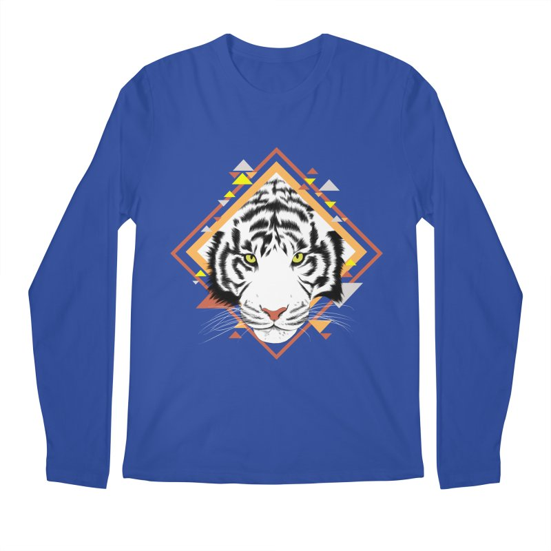 Tiger_Geometric Men's Longsleeve T-Shirt by gabifaveri's Artist Shop