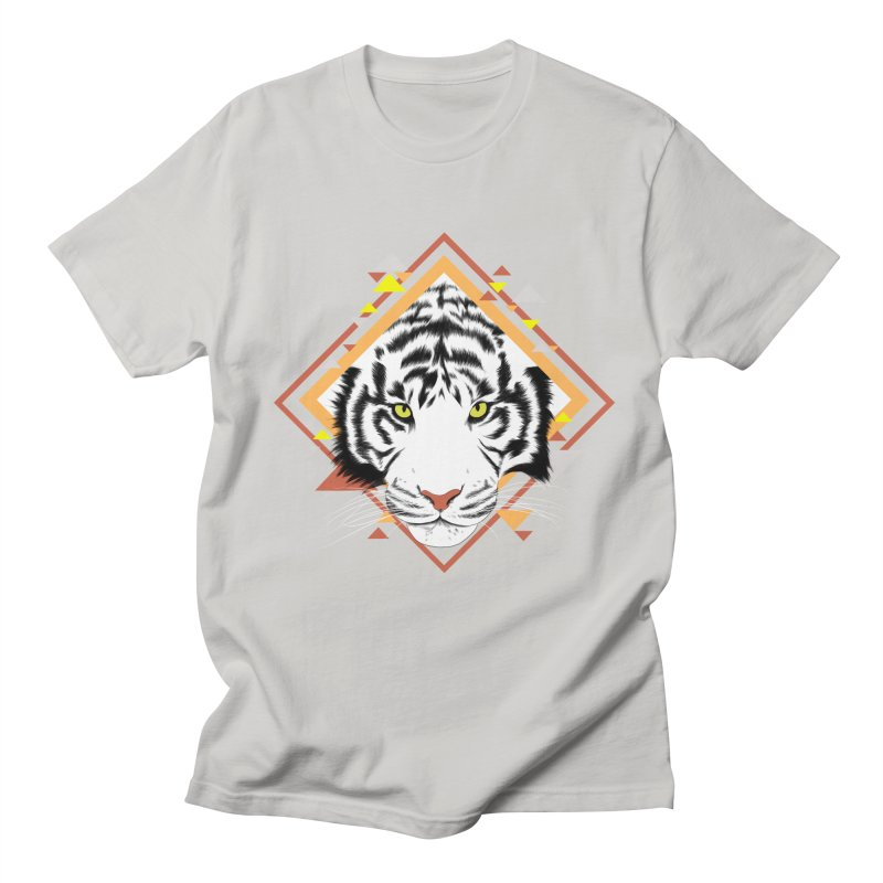 Tiger_Geometric Men's Regular T-Shirt by gabifaveri's Artist Shop