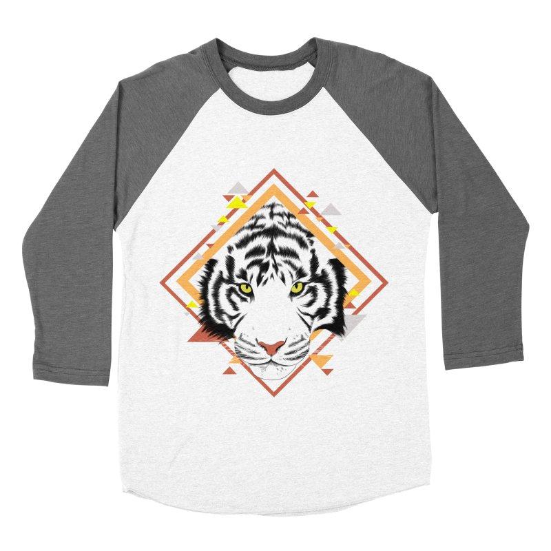 Tiger_Geometric Women's Baseball Triblend Longsleeve T-Shirt by gabifaveri's Artist Shop