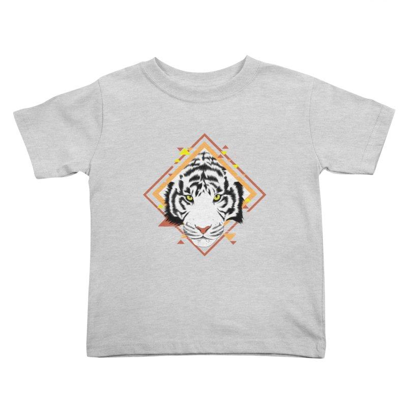 Tiger_Geometric Kids Toddler T-Shirt by gabifaveri's Artist Shop