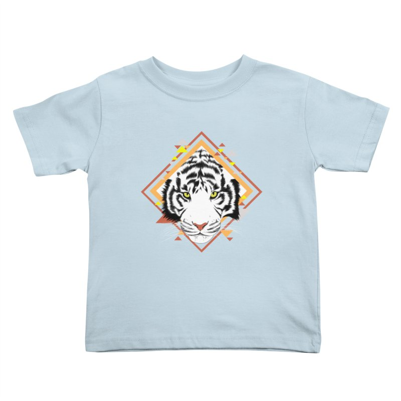 Tiger_Geometric Kids Toddler T-Shirt by gabifaveri's Artist Shop