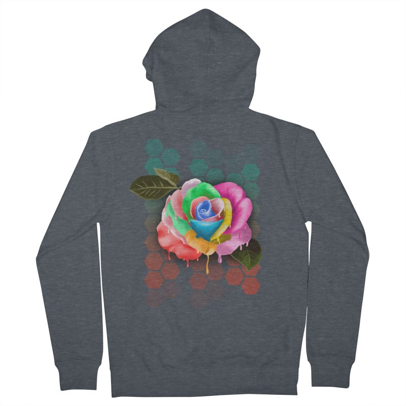Rose_colors Men's French Terry Zip-Up Hoody by gabifaveri's Artist Shop