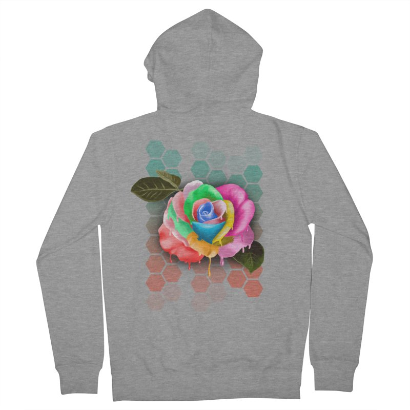 Rose_colors Men's French Terry Zip-Up Hoody by gabifaveri's Artist Shop
