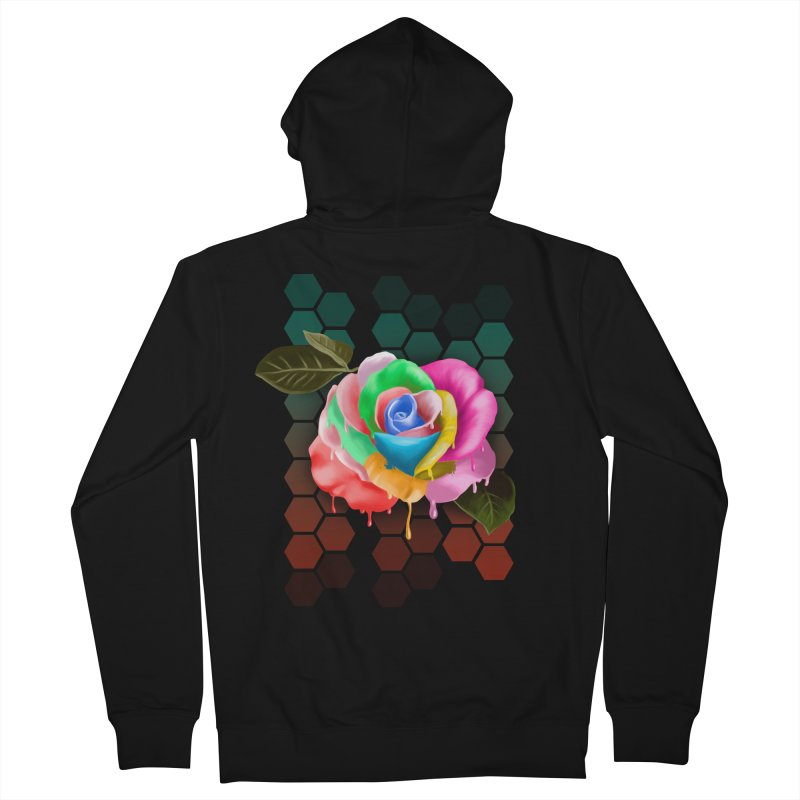 Rose_colors Men's Zip-Up Hoody by gabifaveri's Artist Shop