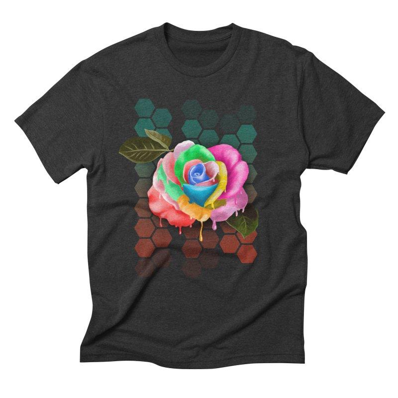 Rose_colors Men's Triblend T-Shirt by gabifaveri's Artist Shop