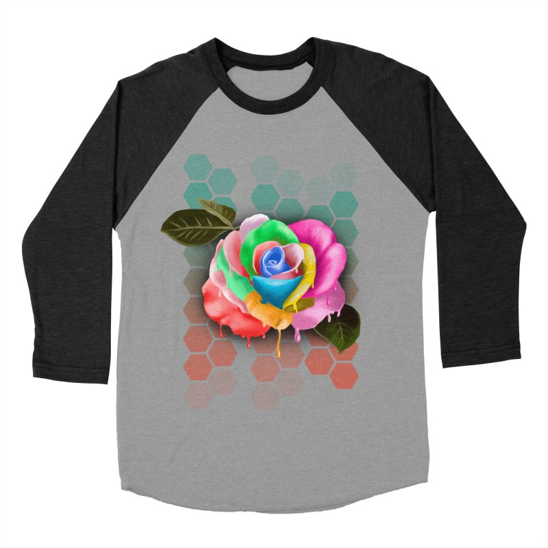 Rose_colors Women's Baseball Triblend T-Shirt by gabifaveri's Artist Shop