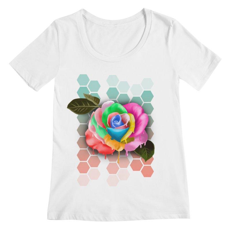 Rose_colors Women's Regular Scoop Neck by gabifaveri's Artist Shop