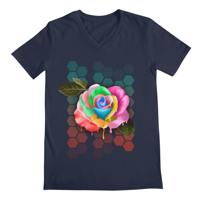 Rose_colors Men's Regular V-Neck by gabifaveri's Artist Shop