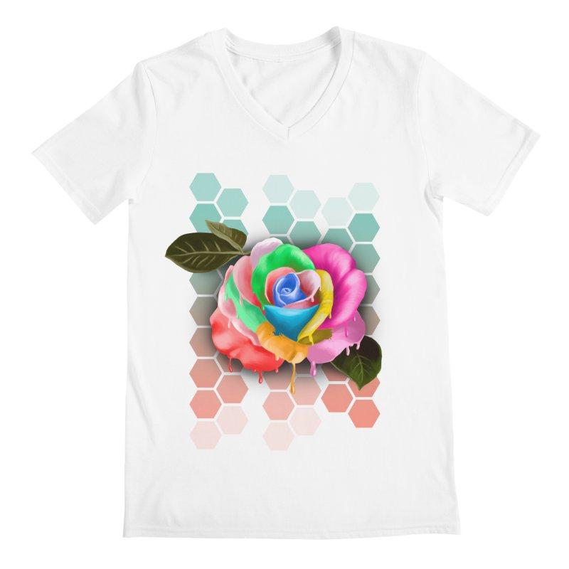 Rose_colors Men's V-Neck by gabifaveri's Artist Shop