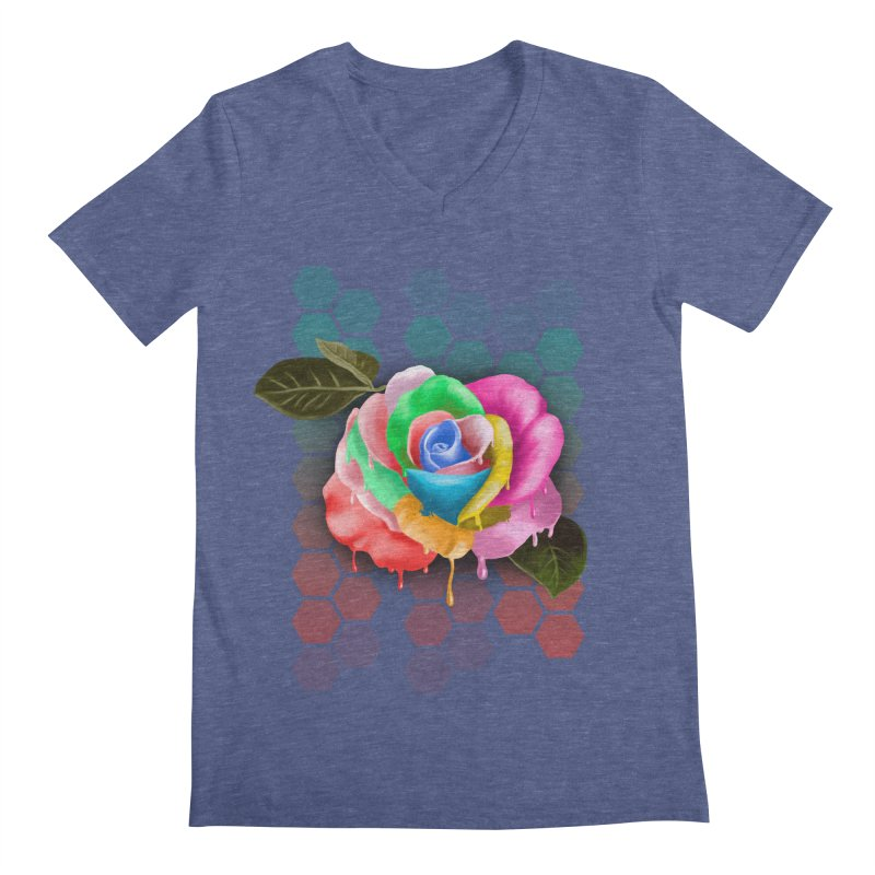 Rose_colors Men's Regular V-Neck by gabifaveri's Artist Shop