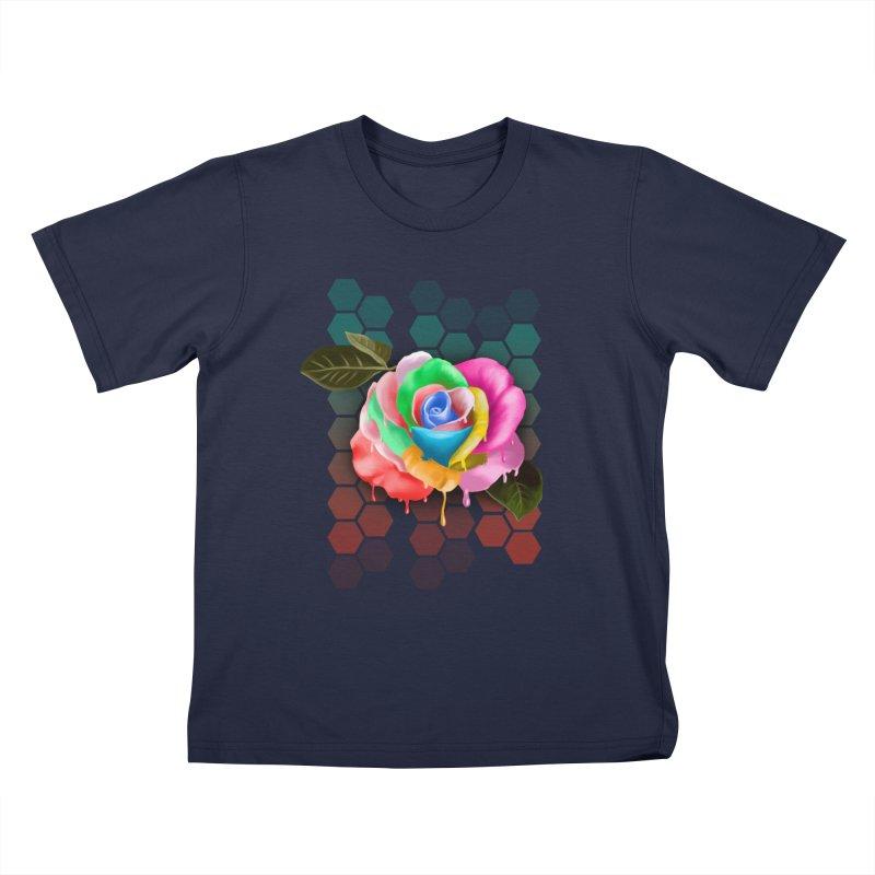 Rose_colors Kids T-Shirt by gabifaveri's Artist Shop