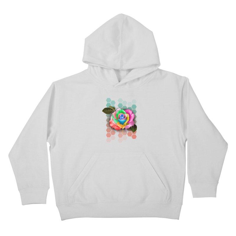 Rose_colors Kids Pullover Hoody by gabifaveri's Artist Shop