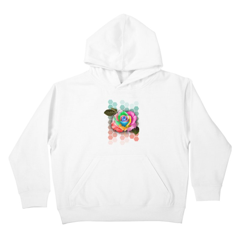 Rose_colors Kids Pullover Hoody by gabifaveri's Artist Shop