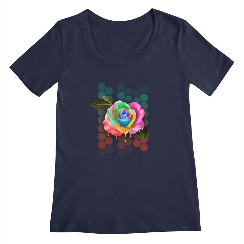 Rose_colors Women's Regular Scoop Neck by gabifaveri's Artist Shop