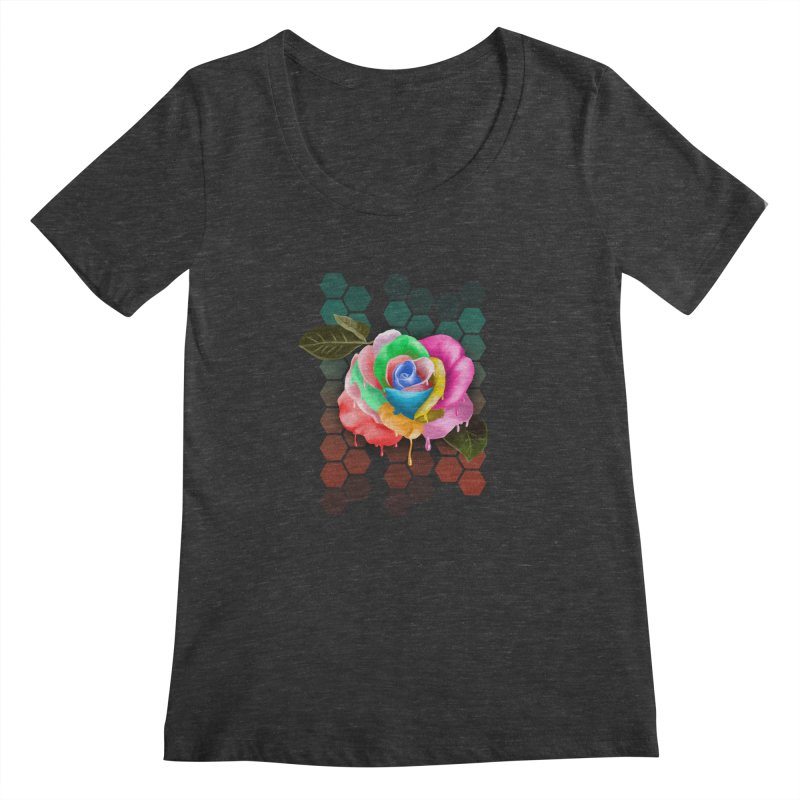 Rose_colors Women's Scoopneck by gabifaveri's Artist Shop