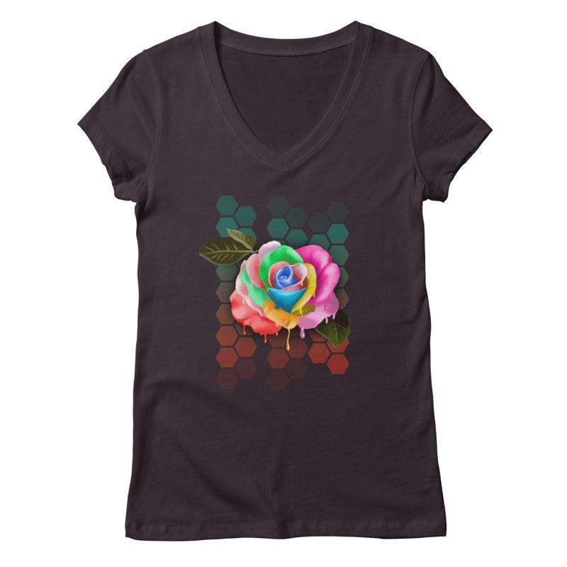 Rose_colors Women's V-Neck by gabifaveri's Artist Shop
